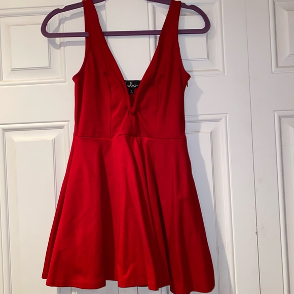 Lulu's Red Mini Dress With Shorts underneath!
